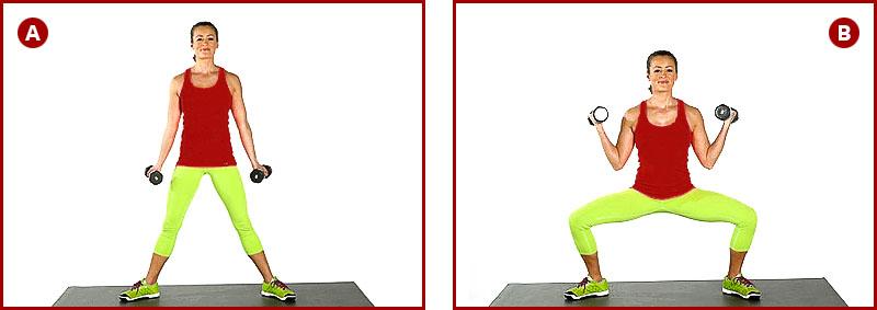 упражнения для бицепса, ног и ягодиц