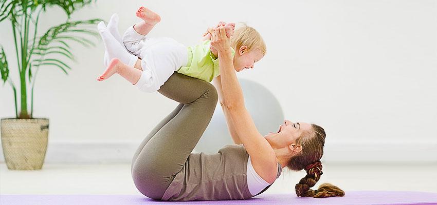 Фитнес для молодой мамы с ребёнком