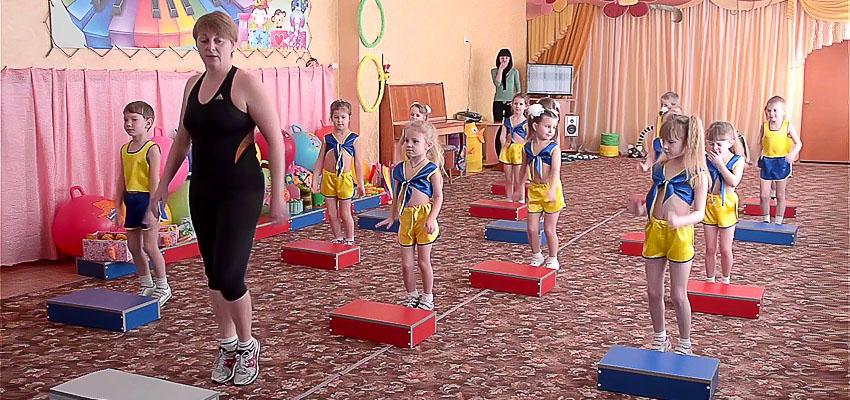 детский фитнес для малышей