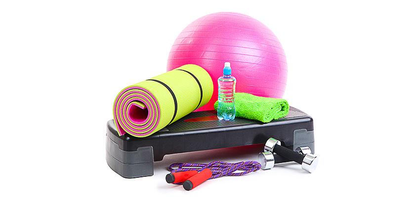 гимнастический коврик, спортивный инвентарь,тренажёры