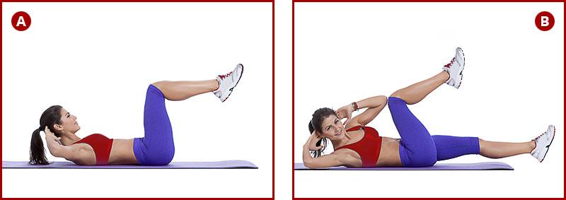 Упражнение скручивания