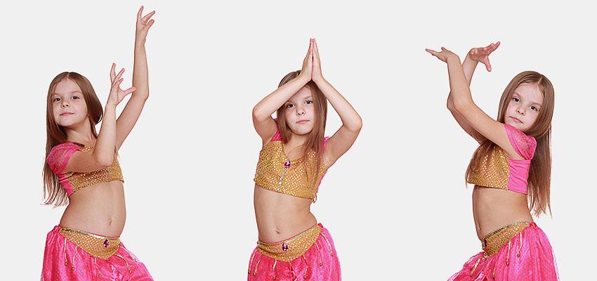 Девочка танцует bellydance