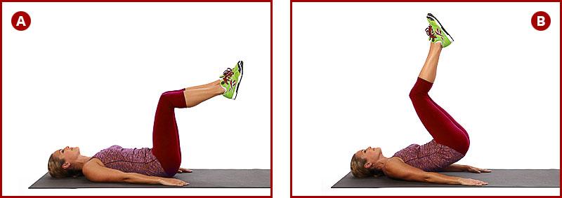 выполнение упражнения обратные скручивания