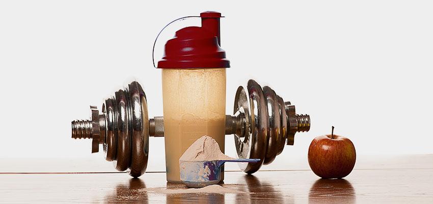 Витамины и протеиновый коктейль