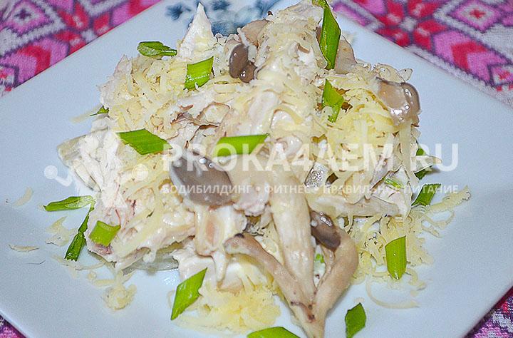 Куриная грудка, грибы и сыр
