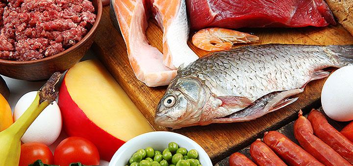 в каких продуктах содержится много протеина