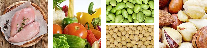 белки, клетчатка и витамины