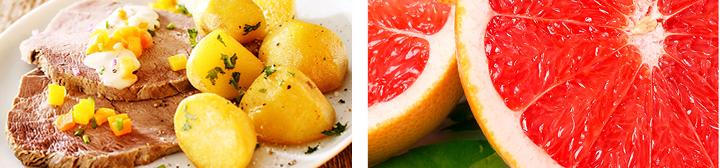 телятина и грейпфрут