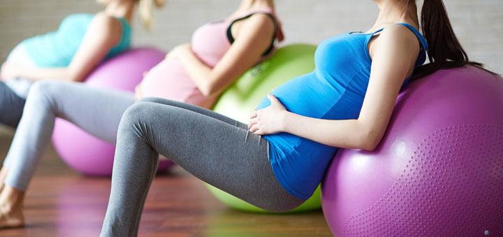 фитбол для подготовки к родам